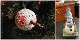 cardboard snowman ornaments using corrugated cardboard