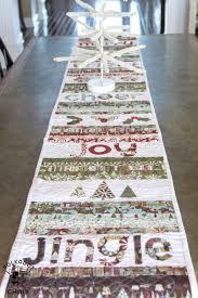 merry u0026 cheer quilted christmas table runner pattern sewing