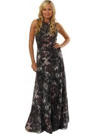 gestuz smudge print silk dress gestuz maxi dresses designer
