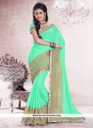 pista green color topaz classic saree in pista colour