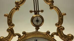 Mantel Clocks Antique Antique 19thc Mystery Pendulum Swinging Mantel Clock Under Dome
