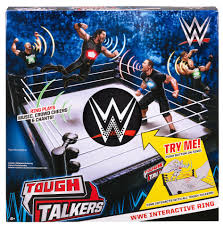wwe tough talkers interactive ring playset toys