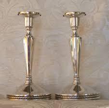 candelieri in argento candelieri coppia argento 830 svezia uppsala deco solid