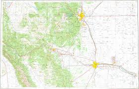 Colorado Map With Cities And Towns by Download Topographic Map In Area Of Colorado Springs Pueblo