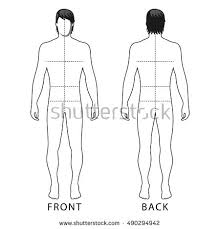 fashion body full length bald template stock vector 677826223