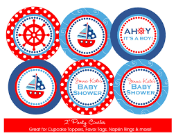 Nautical Theme by Nautical Baby Shower Printable Party Circles Diy Nautical Themed