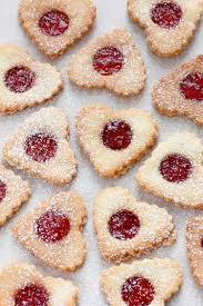 heart shaped cookies sandwich heart shaped cookies filled with strawberry jam lil cookie