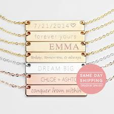 Gold Name Plated Necklace Name Necklace Gold Name Plate Necklace Initial Necklace Rose