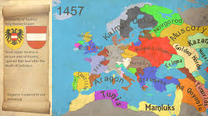 Map Of The Europe by Map History Of Europe War Of The Roses 1453 1465 Youtube