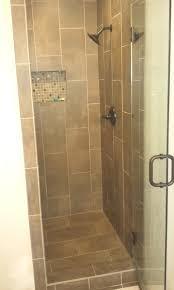 bathroom modern small shower brown tiles bathroom glass windows