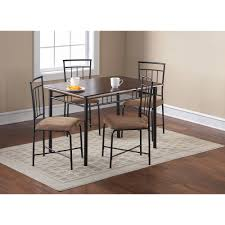wood and metal dining table sets mainstays 5 piece glass top metal dining set dining room ideas