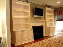 built in cabinets around fireplace diy built in cabinets titok info