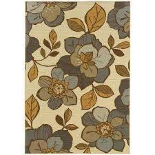 Floral Outdoor Rug Floral 4 X 6 Outdoor Rugs Rugs The Home Depot
