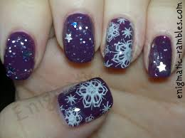 enigmatic rambles winter nail challenge white christmas