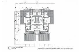 semi detached house floor plan double storey semi detached house kuching sale floor plan home