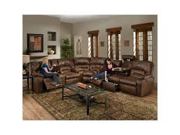 franklin living room reclining sofa with table and drawer storage