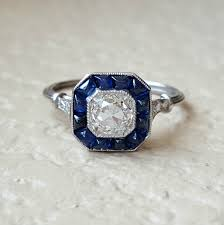 yes please art deco sapphire halo ring weddingbee photo gallery