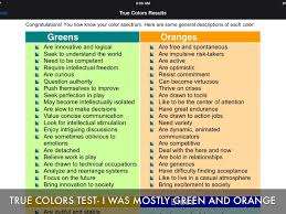 color personality test true colors personality test true colors personality pinterest