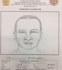police releases artist u0027s sketch of suspect in qc prosecutor u0027s slay