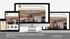 j u0026r interior design website mockup speedart youtube