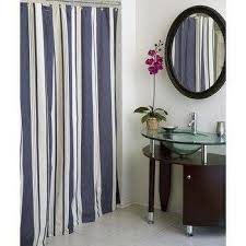 Blue And White Vertical Striped Curtains Blue And Ivory Stripe Curtains