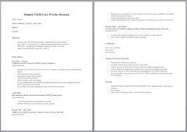Aged Care Resume Sample resume child care resume samples resume templates child care