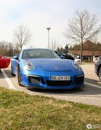porsche blue gt3 porsche 991 gt3 13 march 2013 autogespot