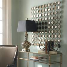 Elegant Wall Decor by Bathroom Decorations Slim Mirrored Wall Decor Mirrored Wall