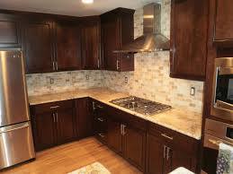 what backsplash looks with cherry cabinets 10 attractive backsplash ideas for cherry cabinets 2021