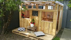 Backyard Clubhouse Plans by Our D I Y Pallet Playhouse Simplicity Me P L A Y H O U S E