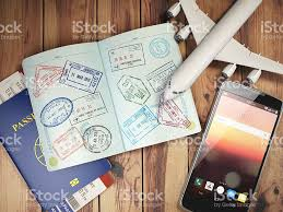 travel passport images Travel and tourism concept passport with visas and boarding pas
