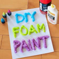 3 ingredient diy foam paint 3 ingredients paint and diy
