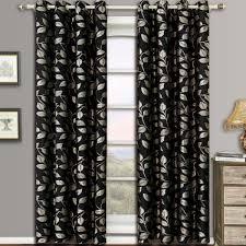 charlotte pair set of 2 jacquard grommet window curtain panels