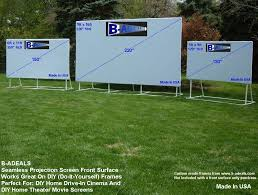 Backyard Screens Outdoor by Diy Front Projection Projector Screen Material From Www B Adeals Com