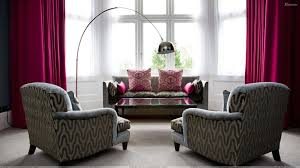 Curtains To Go With Grey Sofa Grey Designing Sofa Set And Pink Curtains In Room Wallpaper
