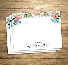custom notecards floral print note cards custom notecards