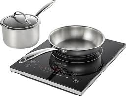 Heat Diffuser For Induction Cooktop Insignia 4 Piece Induction Cooktop Set Black Ns Ic87bk6 Best Buy