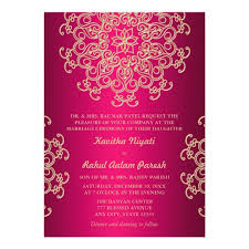hindu engagement invitations hot pink and gold indian style wedding invitation zazzle