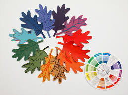 paint chip color wheel inspired fall wreaths pink stripey socks