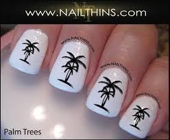 palm tree nail decals nailthins tropical nail designs