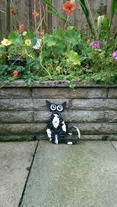 welded metal cat garden ornament
