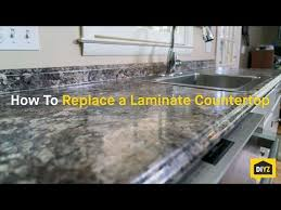 How To Install A Laminate Kitchen Countertop - how to replace a laminate countertop youtube