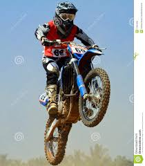 tvs motocross bikes arvind kp of team tvs racing going aerial editorial photography