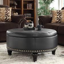 super masculine black leather storage ottoman u2013 home improvement 2017