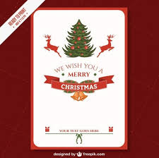 cmyk printable christmas card template vector free download