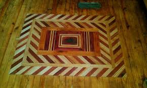 inlay a wood floor 5 steps with pictures