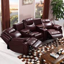 Lazy Boy Leather Sofa by Cinema Sofa With Recliner Lazy Boy Sofa Bed Top Grain Leather Vip