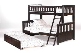 bunk beds twin over full stairway cappuccino twin trundle u2014 loft