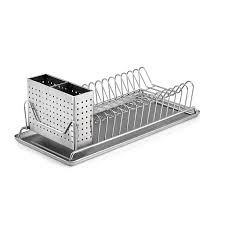 Kitchen Dish Rack Ideas Amazon Com Polder 6115 75 Compact Stainless Steel Dish Rack With