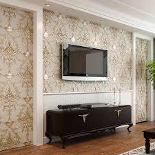 Wallpaper D Embossed Nonwoven Wallpapers Luxury European Wall - Living room wallpaper design